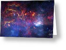 The Central Region Of The Milky Way Greeting Card by Stocktrek Images