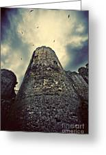 The Chapel Tower Greeting Card by Meirion Matthias