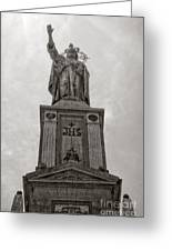 The Christking Monument Greeting Card by Angela Doelling AD DESIGN Photo and PhotoArt