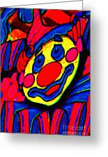 The Circus Circus Clown Greeting Card by Wingsdomain Art and Photography