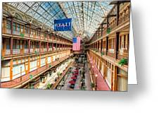 The Cleveland Arcade I Greeting Card by Clarence Holmes