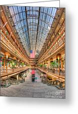 The Cleveland Arcade II Greeting Card by Clarence Holmes