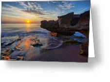 The Cliffs Of Florida Greeting Card by Claudia Domenig