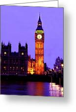 The Clock Tower Aka Big Ben Parliament London Greeting Card by Chris Smith
