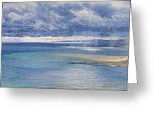 The Coast Of Sicily From The Taormina Cliffs Greeting Card by John Brett