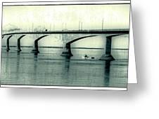 The Confederation Bridge Pei Greeting Card by Edward Fielding