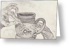 The Core Mug Greeting Card by TK Mayfield