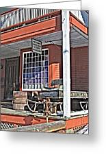 The Country Store Greeting Card by Linda Pulvermacher