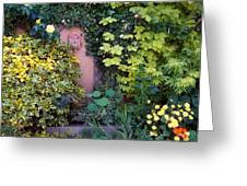 The Courtyard Garden, Fairfield Lodge Greeting Card by The Irish Image Collection