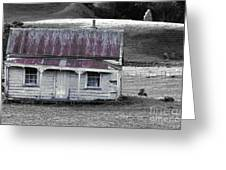 The Crooked Cottage Greeting Card by Karen Lewis