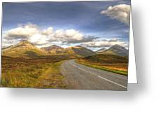 The Cuillin Mountains Of Skye Greeting Card by Chris Thaxter