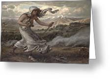 The Cumaean Sibyl Greeting Card by Elihu  Vedder
