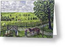 The Dairy Farm Greeting Card by Ronald Haber