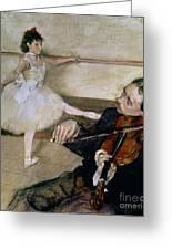 The Dance Lesson Greeting Card by Edgar Degas