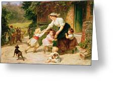 The Dancing Bear Greeting Card by Frederick Morgan
