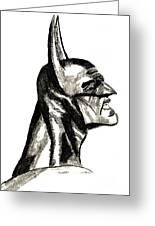 The Dark Knight Greeting Card by Ronnie Black
