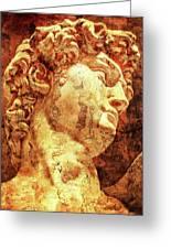 The David By Michelangelo Greeting Card by Jose Espinoza