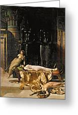 The Death Of Cleopatra  Greeting Card by John Collier
