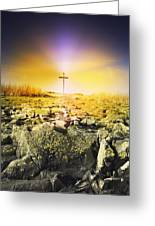 The Death Spot Of St. Cuthbert On Holy Greeting Card by John Short
