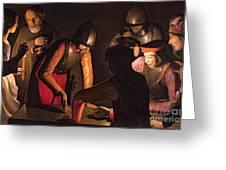 The Denial Of Saint Peter Greeting Card by Georges De La Tour