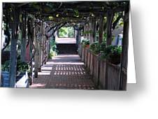 The Dinner Walk Greeting Card by