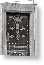 The Door - Ceske Budejovice Greeting Card by Christine Till