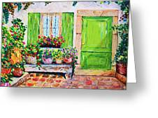 The Door Greeting Card by Cristina Gosserez