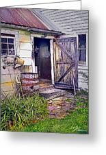 The Door Is Always Open Greeting Card by Nancy Griswold
