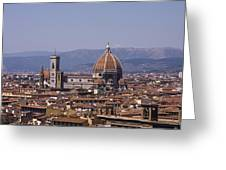 The Duomo Florence Greeting Card by Trevor Buchanan
