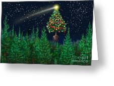 The Egregious Christmas Tree Classic Landscape Greeting Card by Russell Kightley