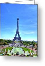 The Eiffel Tower Greeting Card by Barry R Jones Jr