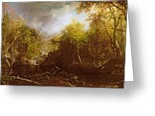 The Emerald Pool Greeting Card by Albert Bierstadt