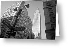 The Empire State Building In New York City Greeting Card by Ilker Goksen
