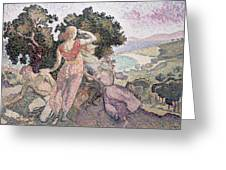 The Excursionists Greeting Card by Henri-Edmond Cross