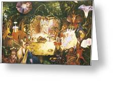 The Fairies Banquet Greeting Card by John Anster Fitzgerald