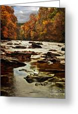 The Fall On The River Avon  Greeting Card by John Farnan