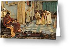 The Favourites Of Emperor Honorius Greeting Card by John William Waterhouse