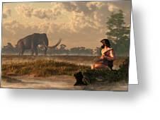 The First American Wildlife Artist Greeting Card by Daniel Eskridge