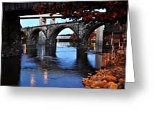 The Five Bridges - East Falls - Philadelphia Greeting Card by Bill Cannon