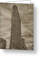The Flat Iron Building Greeting Card by Kathy Jennings