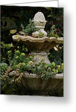 The Fountain Painterly Greeting Card by Ernie Echols