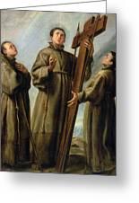 The Franciscan Martyrs In Japan Greeting Card by Don Juan Carreno de Miranda