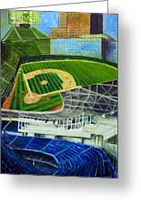 The Friendly Confines Greeting Card by Chris Ripley