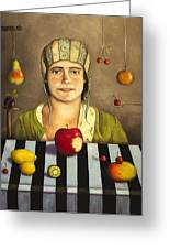 The Fruit Collector 2 Greeting Card by Leah Saulnier The Painting Maniac