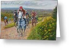 The Gallops Greeting Card by Tomas OMaoldomhnaigh