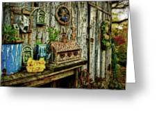 The Garden Shed Greeting Card by Kathy Jennings