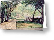 The Garden Greeting Card by SiamArtist Gallery