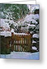 The Gate Greeting Card by Amanda Moore