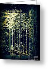 The Gate In The Grotto Of The Redemption Iowa Greeting Card by Susanne Van Hulst