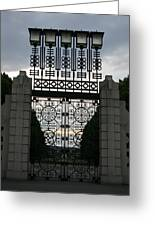 The Gate Greeting Card by Nina Fosdick